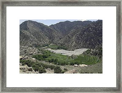 Looking Down On The Village Framed Print by Everett