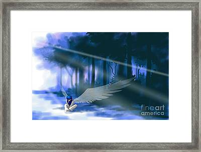 Looking For Light Framed Print by Alice Chen
