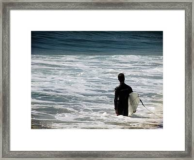 Looking For The Big One Framed Print by Laurie Search
