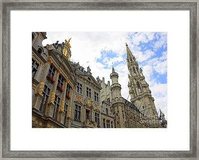 Looking Up At The Grand Place Framed Print by Carol Groenen