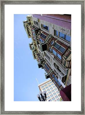 Looking Up From The Gaslamp Framed Print by John  Greaves