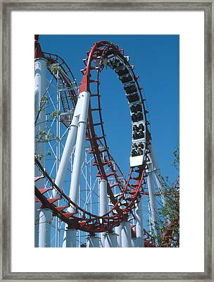 Loop Section Of A Rollercoaster Ride Framed Print by Kaj R. Svensson