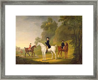 Lord Bulkeley And His Harriers Framed Print by Francis Sartorius