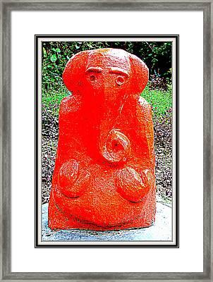 Lord Ganesha Framed Print by Anand Swaroop Manchiraju