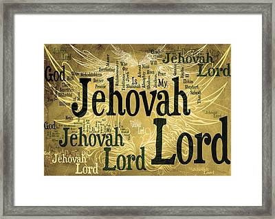 Lord Jehovah 2 Framed Print by Angelina Vick