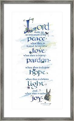 Lord Peace Framed Print by Judy Dodds