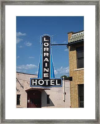 Lorraine Hotel Sign Framed Print by Joshua House