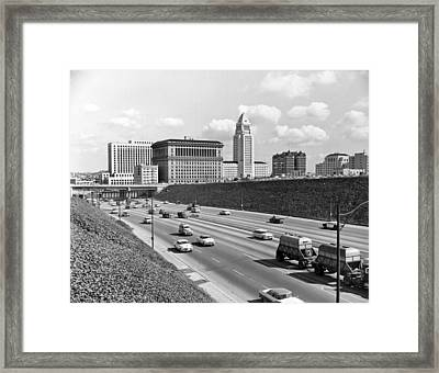Los Angeles In The 1950s Framed Print by Underwood Archives