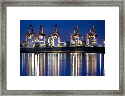Los Angelos Prot And Reflections Framed Print by Mike Raabe