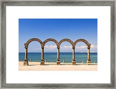 Los Arcos Amphitheater In Puerto Vallarta Framed Print by Elena Elisseeva