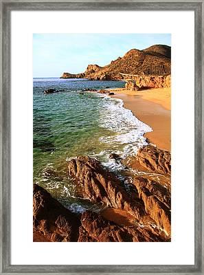 Los Cabos Coastal Landscape Framed Print by Roupen  Baker