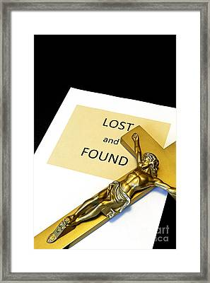 Lost And Found Framed Print by John Van Decker