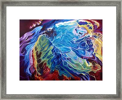 Lost At Space Framed Print by Trinh Nguyen
