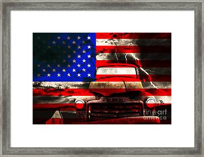 Lost In America Framed Print by Wingsdomain Art and Photography
