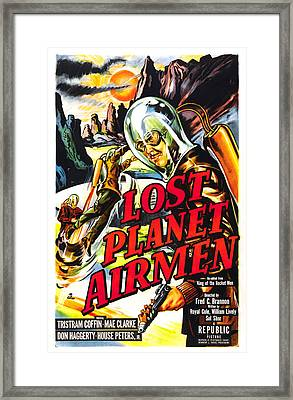 Lost Planet Airmen, Poster Art, 1951 Framed Print by Everett