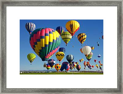 Lots Of Balloons Framed Print by Joe Myeress