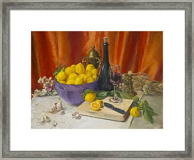 Lotta Lemons Framed Print by Roger Clark