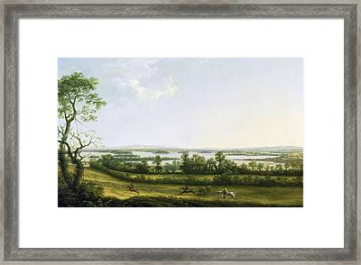 Lough Erne From Knock Ninney - With Bellisle In The Distance Framed Print by Thomas Roberts