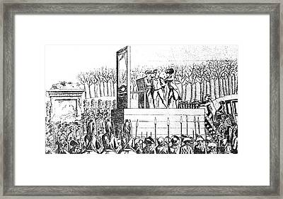 Louis Xvi, Being Led To The Guillotine Framed Print by Photo Researchers