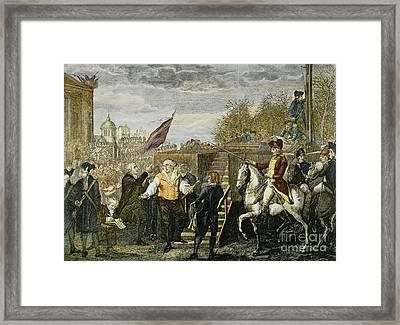 Louis Xvi: Execution, 1793 Framed Print by Granger