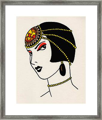Louise Framed Print by Lauren Busiere