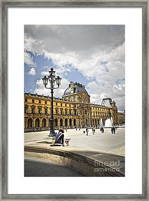 Louvre Museum Framed Print by Elena Elisseeva