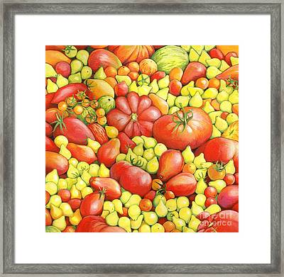 Love Apples ... Heirloom Tomatoes Framed Print by Susan A Walton