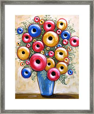 Love Flowers Framed Print by Amy Giacomelli