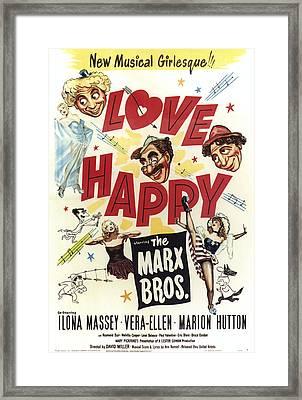 Love Happy, From Top Left Harpo Marx Framed Print by Everett