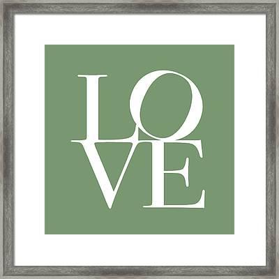 Love In Green Framed Print by Michael Tompsett