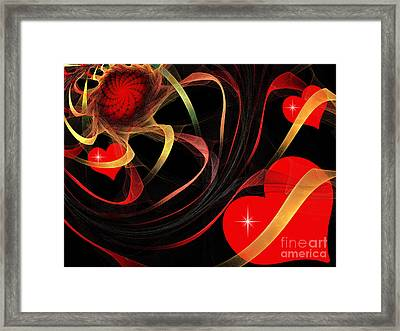 Love Is A Gift From The Heart Framed Print by Andee Design