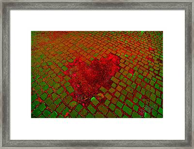 Love Is Everywhere Framed Print by Renata Vogl