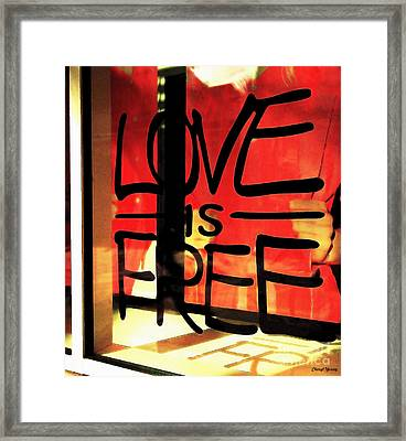Love Is Free Framed Print by Cheryl Young