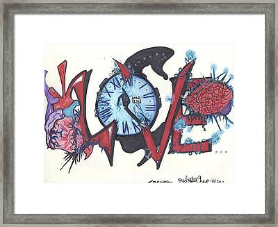 Love Framed Print by Justin Chase