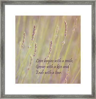 Love Framed Print by Kim Hojnacki