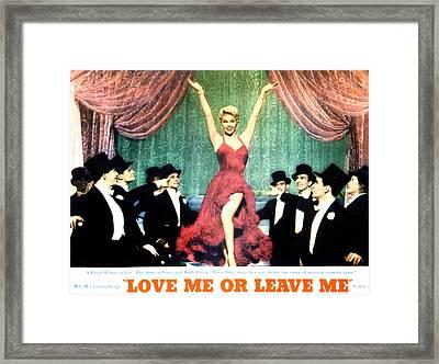 Love Me Or Leave Me, Doris Day, 1955 Framed Print by Everett
