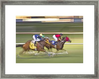 Love Of The Sport Framed Print by Betsy Knapp