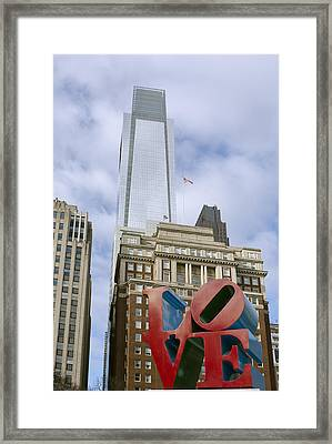 Love Park - Center City - Philadelphia  Framed Print by Brendan Reals