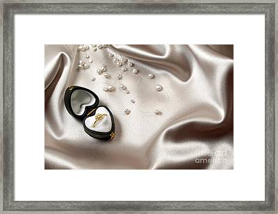 Love Ring Framed Print by Carlos Caetano