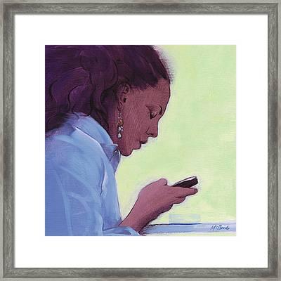 Love Text Framed Print by Neil McBride