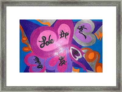 Love The Inner You Framed Print by Jemma Starseed