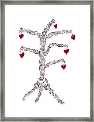 Love Tree Framed Print by Frank Tschakert