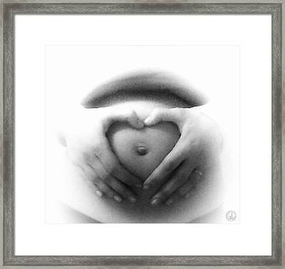 Love You Little One Framed Print by Gun Legler