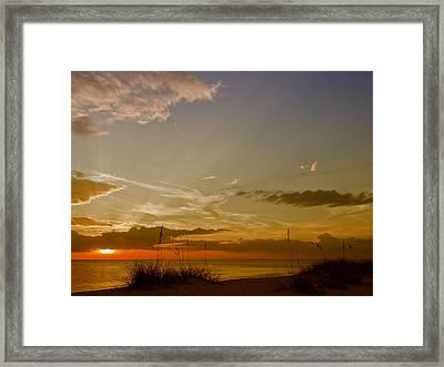 Lovely Sunset Framed Print by Melanie Viola