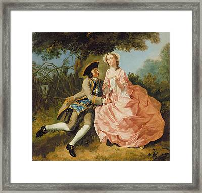 Lovers In A Landscape Framed Print by Pieter Jan van Reysschoot