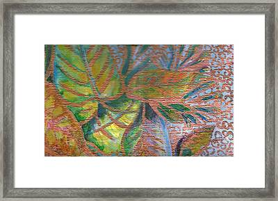 Loving Leaves  Framed Print by Anne-Elizabeth Whiteway