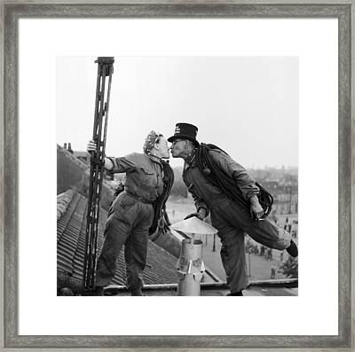Loving Sweepers Framed Print by Harry Kerr