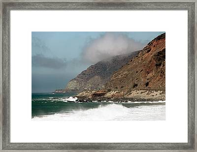 Low Clouds On The Pacific Coast Highway Framed Print by John Rizzuto