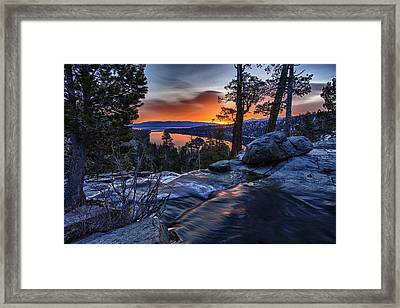 Lower Eagles Falls Framed Print by A