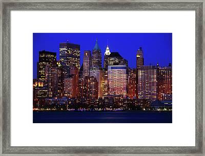 Lower Manhattan Framed Print by Rick Berk